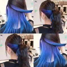 Under Hair Dye, Under Hair Color, Hidden Hair Color, Hair Color Underneath, Hair Color Streaks, Hair Color Purple, Hair Dye Colors, Cool Hair Color, Peekaboo Hair Colors