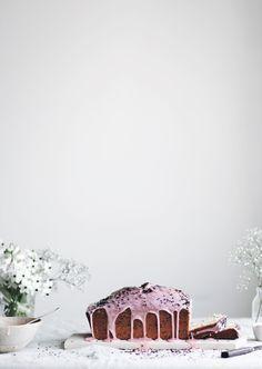 Blood orange & black sesame loaf cake