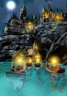 Hogwarts Color by Shahab Khan (me) Art : Tim Doyle #hogwarts #harrypotter #art #coloring