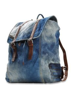 Jean Canvas Rucksack Blue