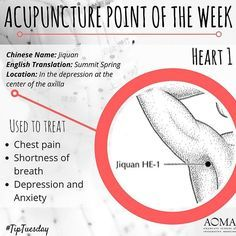 #TipTuesday: #Acupuncture Point of the Week, Heart 1  #tcm #chinesemedicine