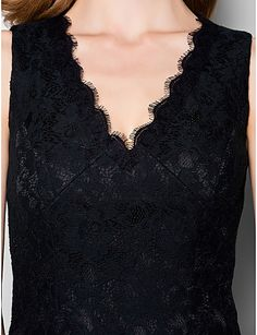 Sheath/Column Knee-length Mother of the Bride Dress - Sleeveless Lace – USD $ 99.99