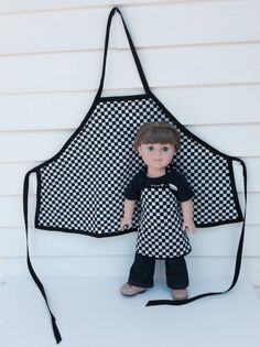 Matching Boy and Doll Aprons 18 Inch Doll and Boy by DonnaDesigned