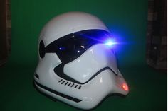 First Order - DOT approved Star Wars Stormtooper motorcycle helmet. I shall have one.