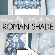 This is the easiest window shade ever and it will change your life. Like all of a sudden you . Diy Window Blinds, Blinds For Windows, Small Bathroom Window, Roman Shade Tutorial, Relaxed Roman Shade, Types Of Window Treatments, Faux Roman Shades, Condo Design, Window Coverings