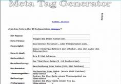 I will give you Meta Tag Generator Meta Tag Maker Meta Generatorsystem for $4 : Newtron - NetJobs24.net