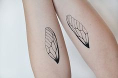 Insect wings temporary tattoo