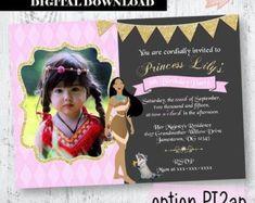 Pocahontas birthday | Etsy Pocahontas Birthday Party, Bags Game, Treat Bags, Party Cakes, Lily, Invitations, Princess, Handmade, Goodie Bags
