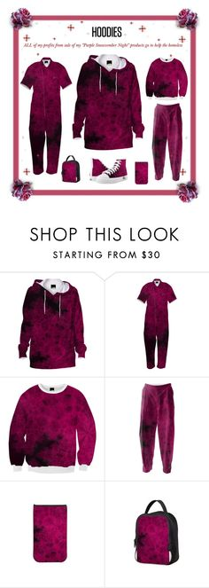 """ALL of my profits from sales of any/all of my """" #Purple #Snowvember #Night """" products will be #donated to #charities that help the #homeless .  This set features my #hoodies , #jumpsuits , #sweatshirts , #relaxed #pants , #Zipz #sneakers , #Lunch #bag and #kindle cover  in a great Purple #Fractal design.  #RoseSantuciSofranko  #Artist4God #PAOM #Zazzle #CafePress"""