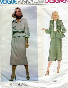 FREE US SHIP Sewing Pattern Vogue 2083 Vintage Retro 1970s 70s