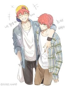 """348 Likes, 3 Comments - eori-namo (@eori.namo) on Instagram: """"Be happy, Choi twins #mysticmessenger #choitwins"""""""