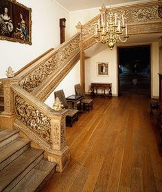 Grinling Gibbons Stairs | the exuberant carving of this magnificent staircase is attributed to ...