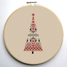 Christmas tree 2 Modern Cross stitch by CrossStitchForYou