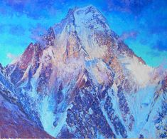 K2 Pakistan Oil on linen, 50 x 60 cm SOLD Monet, Impressionist, Mount Everest, K2, Mountains, Pakistan, Artwork, Painting, Outdoor