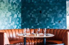 Nick + Stef's Gets a Glorious Modern Refresh in Downtown's Bunker Hill - Eater LA -  #belecodesign #restaurantdesign #steakhouse #hospitalitydesign