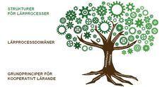 Kooperativt Lärande består av stor samling samarbetsformer, så kallade 'strukturer'. Varje struktur kan användas för flera olika syften, så kallade lärprocessdomäner. Samtliga strukturer inom Kooperativt Lärande baserar sig på ett antal grundläggande principer. Strukturerna i sig själv är innehålls