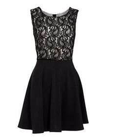 Lace Top Dress - I am absolutely inlove with this dress. As a busty girl, this dress offers the full support and coverage that I need while still looking cute.