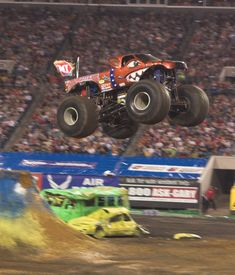 Brutus Monster truck flying through the air Monster Truck Madness, Big Monster Trucks, Monster Truck Racing, Monster Jam, 4x4 Trucks, Cool Trucks, Cool Cars, Performance Cars, Tractors