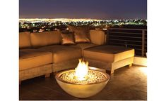 Mix Fire Bowls by EcoSmart Fire combine the traditional look of an outdoor fire pit with today's contemporary design. Garden Fire Pit, Diy Fire Pit, Fire Pit Backyard, Outdoor Spaces, Indoor Outdoor, Outdoor Living, Outdoor Decor, Outdoor Couch, Fire Pit Bowl