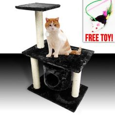 New Cat Tree 47 Level Condo Furniture Scratching Post Pet House Brown  Scratcher In Pet Supplies, Cat Supplies, Furniture U0026 Scratchers