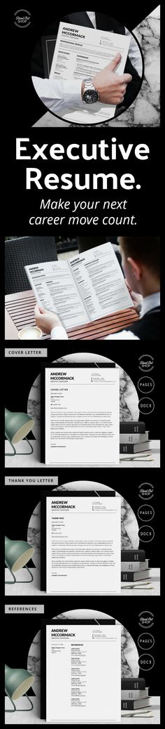 Bold and modern resume template! Professional Resume Template for - apple pages resume templates