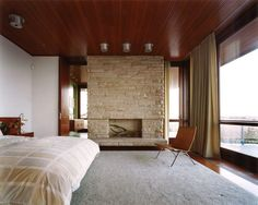 sawyer berson mid century modern house. I want this bedroom without the area rug.