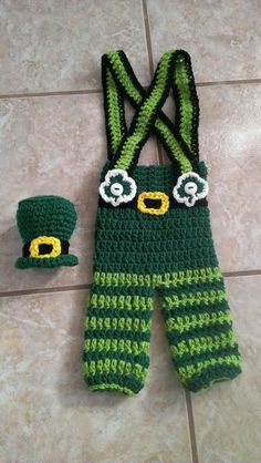 Crochet Newborn St. Paddy's Day by TjCrochetCreations on Etsy, $35.00