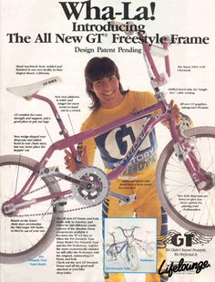 16 super Ideas bmx bike design old school Gt Bmx, Gt Bikes, Cool Bikes, Bmx Bandits, Vintage Bmx Bikes, Retro Bike, Kids Mode, Performance Bike, Bmx Racing