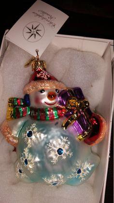 Christopher Radko Snowman Ornament by VintageBarnYard on Etsy
