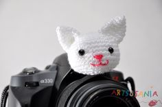 Muñequito para objetivo de cámara, a los niños les encanta!! Regulable para todo tipo de objetivos. www.facebook.com/artsusania