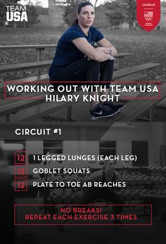 Try out Hilary Knight's quick and fool-proof leg day circuit!   #TeamUSA and @chobani  present #WorkingOutWithTeamUSA!
