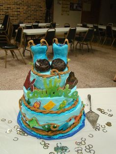 This was the cake at my very own baby shower made by a dear friend. #cowboy #babyshower
