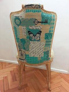 Silla luis xv tapizada con g nero santa maria sillas y - Sillas luis xvi modernas ...