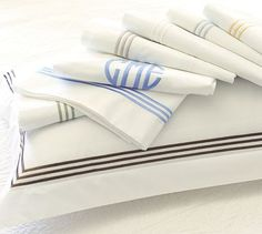 Grand Embroidered 280-Thread-Count Sheet Set #potterybarn