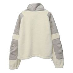 GmbH PULLOVER WITH ZIPPER AND STRING CREAM ($535) ❤ liked on Polyvore featuring tops, sweaters, zip pullover, zipper pullover, pullover zip sweater, cream pullover and zip sweater