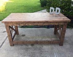 X Leg Desk by DanowitDesigns on Etsy