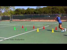 8 Cone Tennis Footwork Drill - YouTube