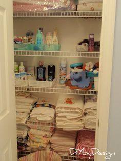 DIY by Design: Linen Closet Organized