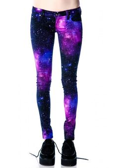 Love the fact that they r galaxy and jeans. Rather than leggings. I would feel more comfortable.. Even though I already have galaxy leggings