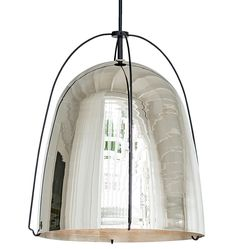 Haleigh Wire Dome Pendant by Rejuvenation (available in polished brass, polished nickel and oil rubbed bronze)