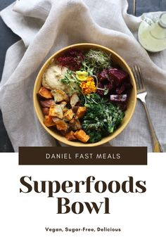 This easy dinner bowl is filled with delicious ingredients like beets, sweet potatoes, kale, and hummus covered in a light citrus dressing. So good! #DanielFastMeals #DanielFastRecipes #DanielFast Sprouting Sweet Potatoes, Sweet Potato Kale, Roasted Sweet Potatoes, Healthy Dinner Recipes, Breakfast Recipes, Daniel Fast Recipes, Dinner Bowls, Easy Food To Make, Beets