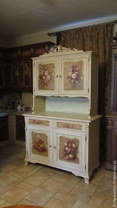 Купить Буфет антикварный реставрированный расписной.Мебель антикварная. - Мебель, антикварная мебель, реставрация мебели