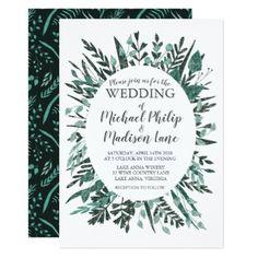 Spring Green Foliage Wedding Invitation - invitations custom unique diy personalize occasions