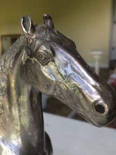 Vintage Silver Finish Horse Statue Figurine JB Jennings Brothers by StoreFourandMore on Etsy