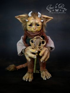 Ooak Art Doll One of a Kind Fantasy Sculpture