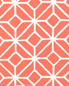 Trellis Print in Watermelon by Trina Turk contemporary outdoor fabric