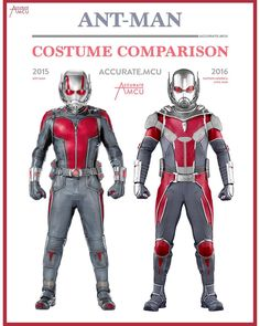 "145 Likes, 4 Comments - • Accurate.MCU • mcu fanpage (@accurate.mcu) on Instagram: ""• ANT-MAN - COSTUME COMPARISON • I am starting to get concerned about the appearance of Ant-man and…"""