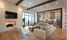 Белая кирпичная стена в интерьере современной квартиры | Интерьеристка