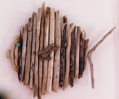 Round driftwood fish wall art by shoponelove on Etsy, $60.00