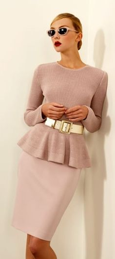Like it all, especially the peplum and the belt. This would be lovely for meetings.